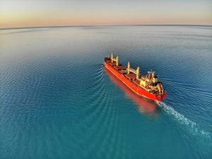 The bulk freighter, Federal Beaufort, leaves the St. Clair River and heads out into Lake Huron.