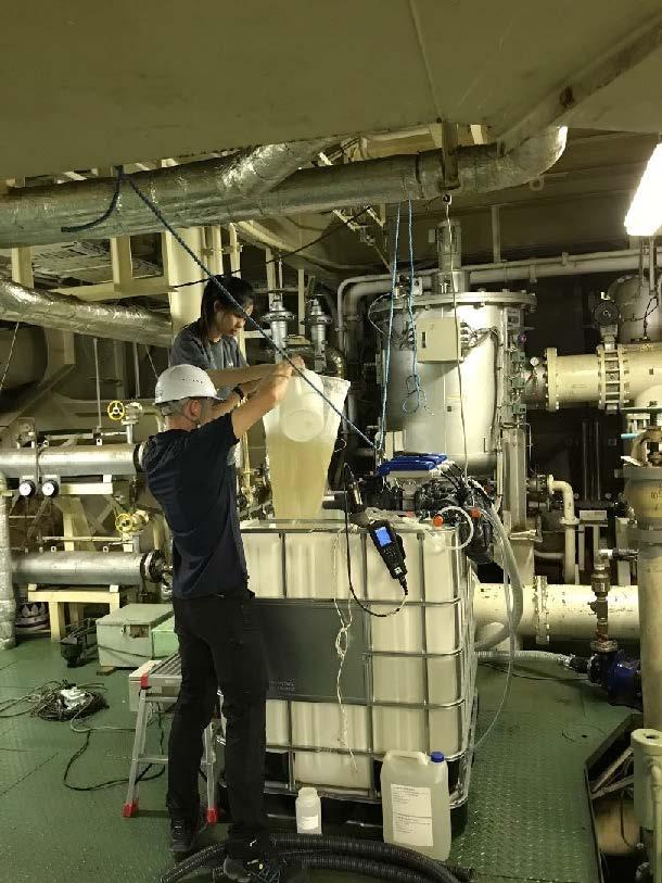 Personnel working onboard a shipboard test